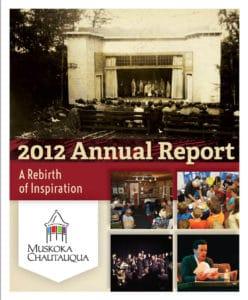 Muskoka Chautauqua 2012 Annual Report