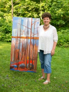 Gayle Dempsey with Painting